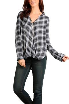Shoptiques Product: Twisted Plaid Top