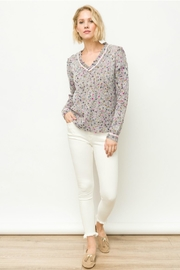 Mystree V-Neck Confetti Sweater - Product Mini Image