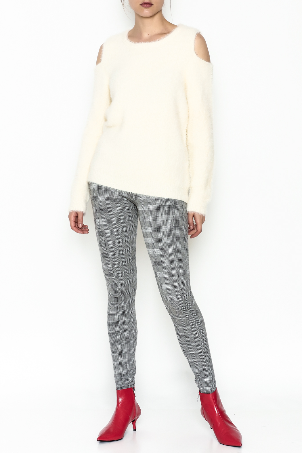Mystree Venessa Furry Pullover - Side Cropped Image