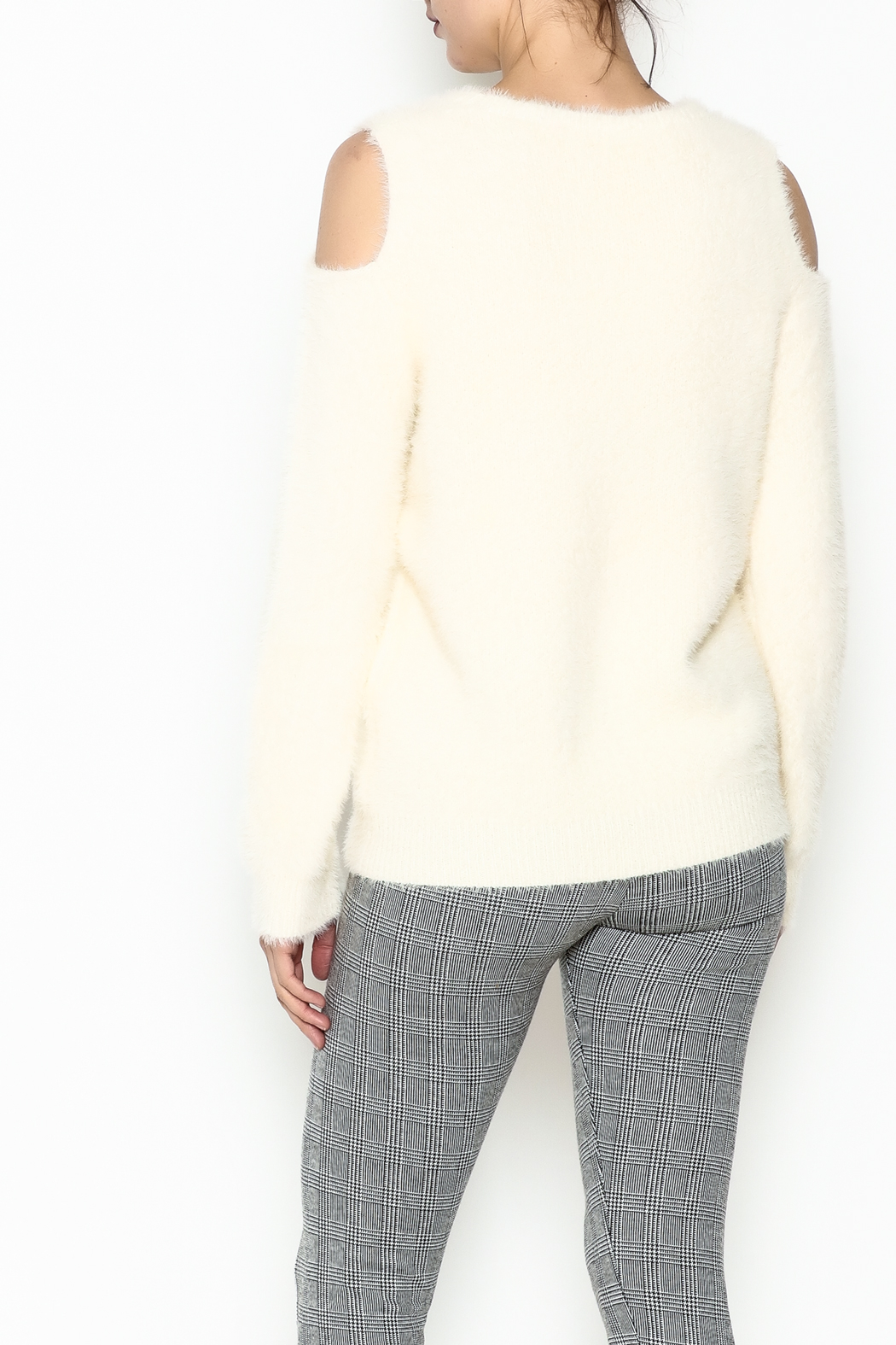Mystree Venessa Furry Pullover - Back Cropped Image