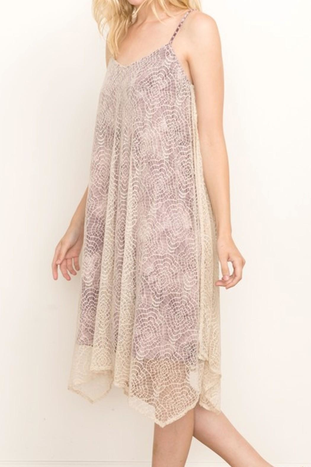 Mystree Violet Lace Cami-Dress - Front Full Image