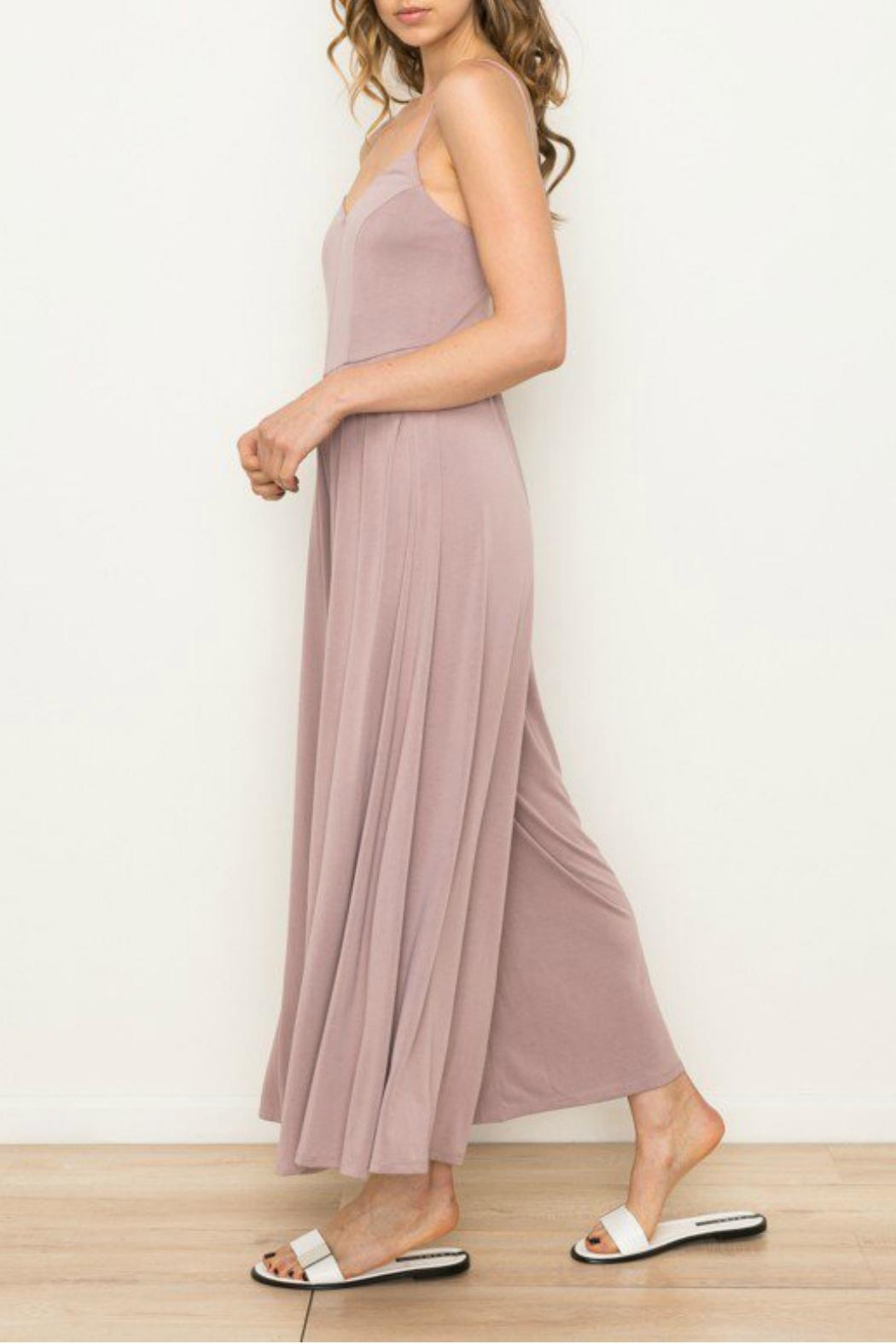 Mystree Wide Leg Jumpsuit - Side Cropped Image