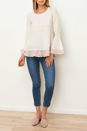 Mystree Woven Mix Terry-Top - Front cropped