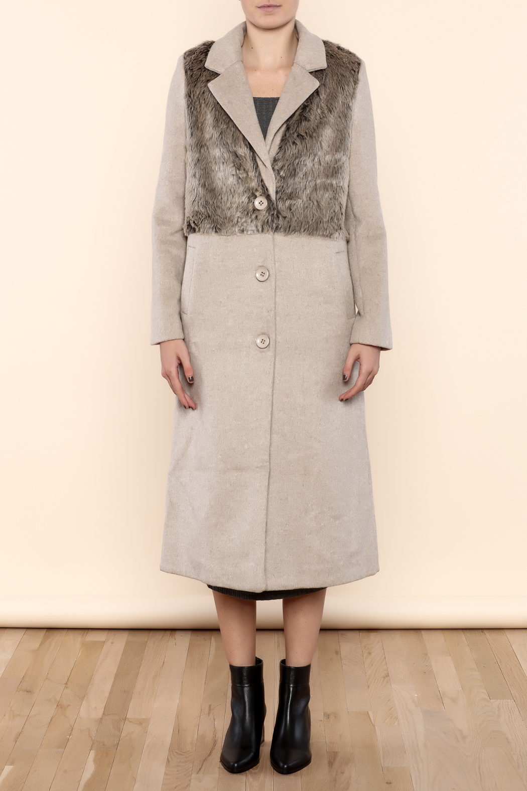 Myths of Creation Refined Coat - Front Cropped Image