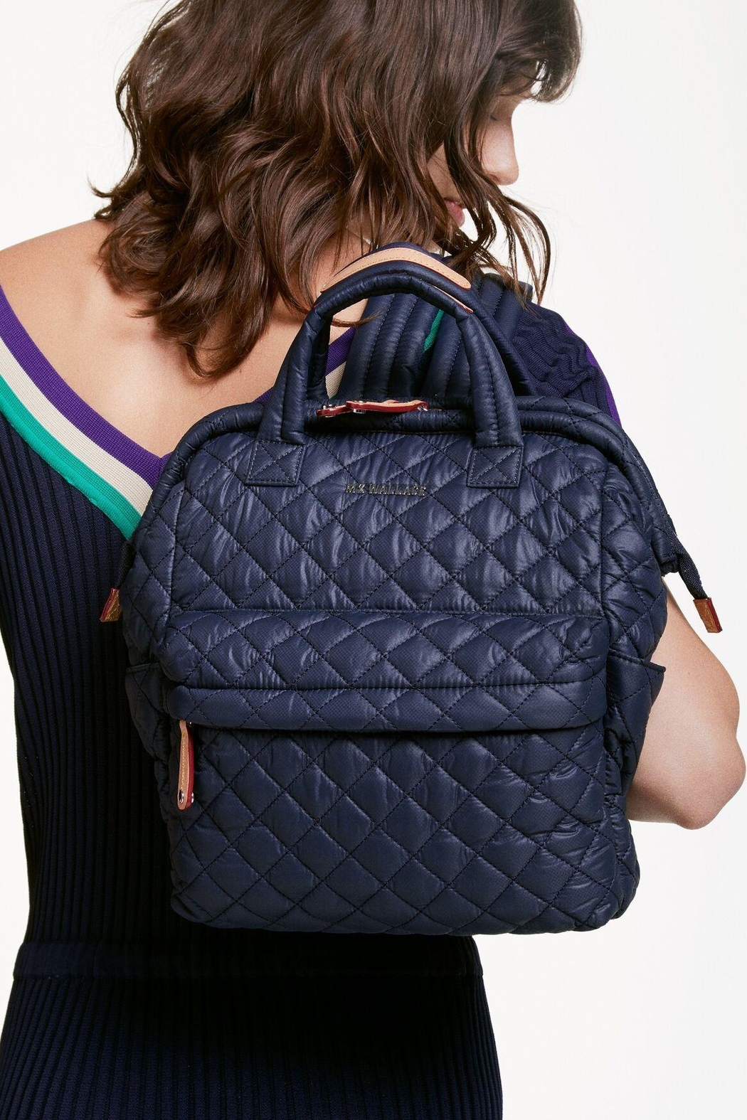 MZ Wallace Small Top Handle Backpack - Back Cropped Image