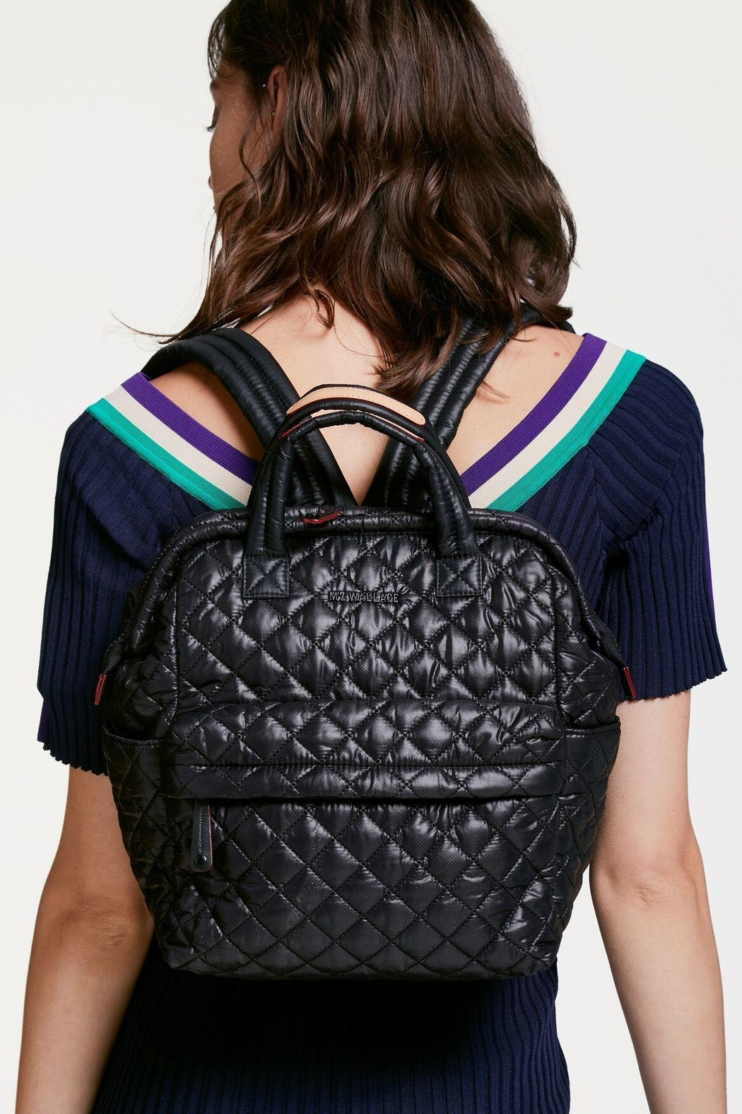 MZ Wallace Small Top-Handle Backpack - Back Cropped Image