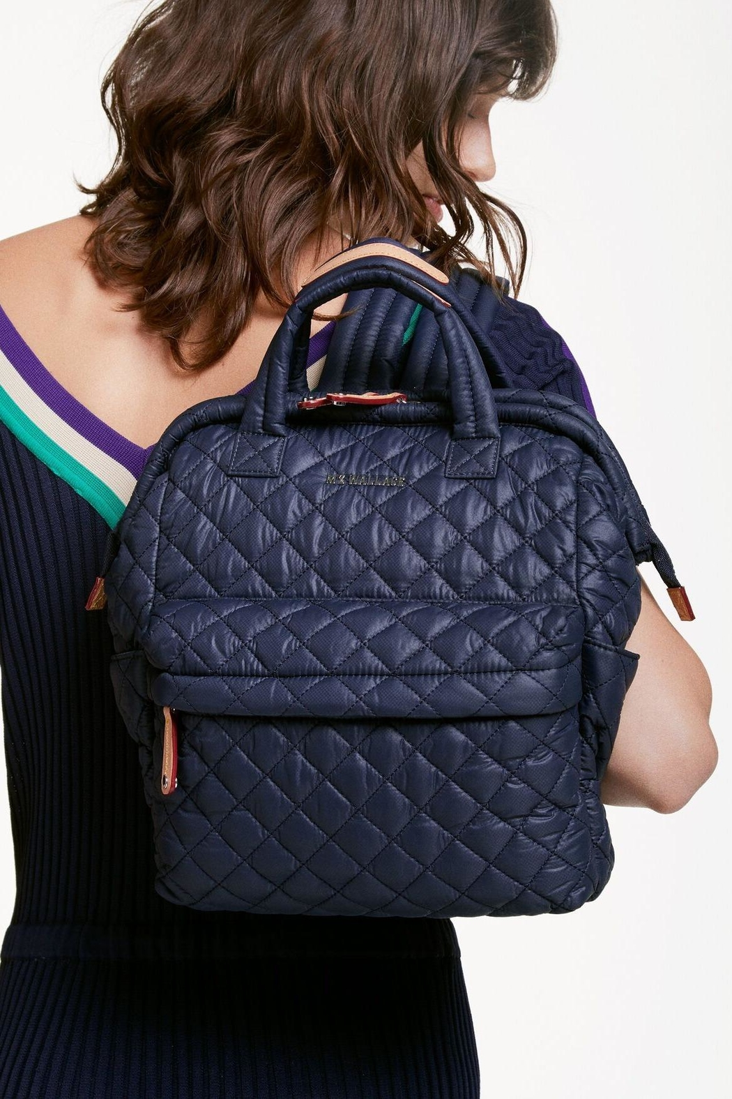 MZ Wallace Small Tophandle Backpack - Back Cropped Image