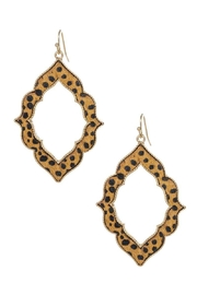 n/a Animal Diamond Shape Earrings - Front cropped