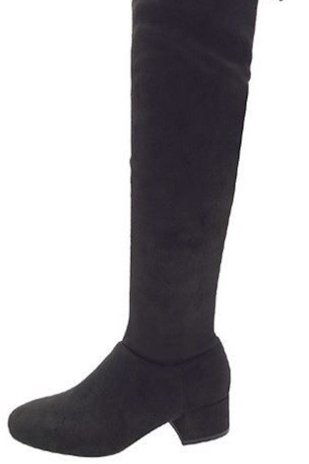 n/a Black Knee Boots - Front Full Image