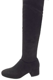 n/a Black Knee Boots - Front full body
