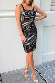 n/a Black Lace Dress - Front cropped