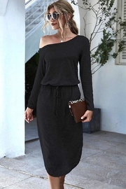 n/a Black One Shoulder Dress - Product Mini Image