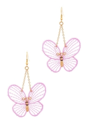 n/a Butterfly Dangle Earrings - Product Mini Image