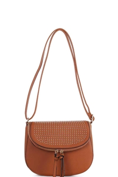n/a Camel Studed Satchel - Product List Image