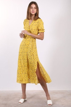 n/a Cheerful Yellow Floral Maxi Wrap - Product List Image