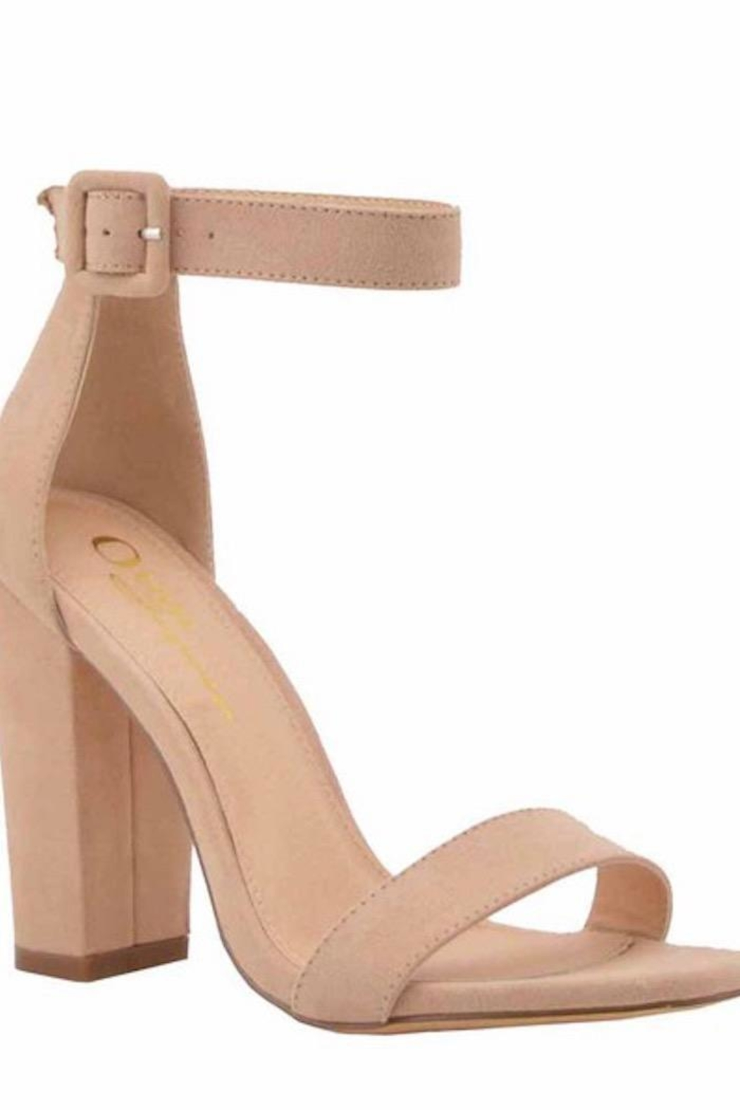 n/a Chunky Heels In Nude - Front Full Image