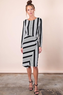 n/a Classic Black & White Striped Dress - Product List Image
