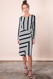 n/a Classic Black & White Striped Dress - Product Mini Image