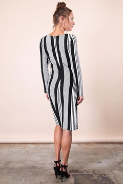 n/a Classic Black & White Striped Dress - Alternate List Image