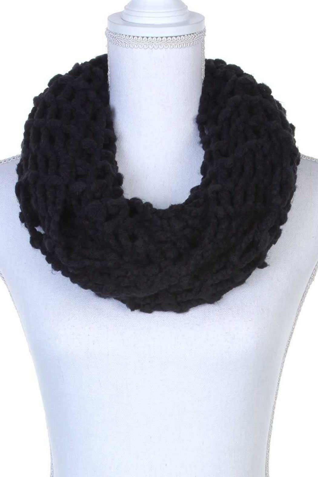 n/a Crochet Knit Infinity Scarfs - Front Cropped Image