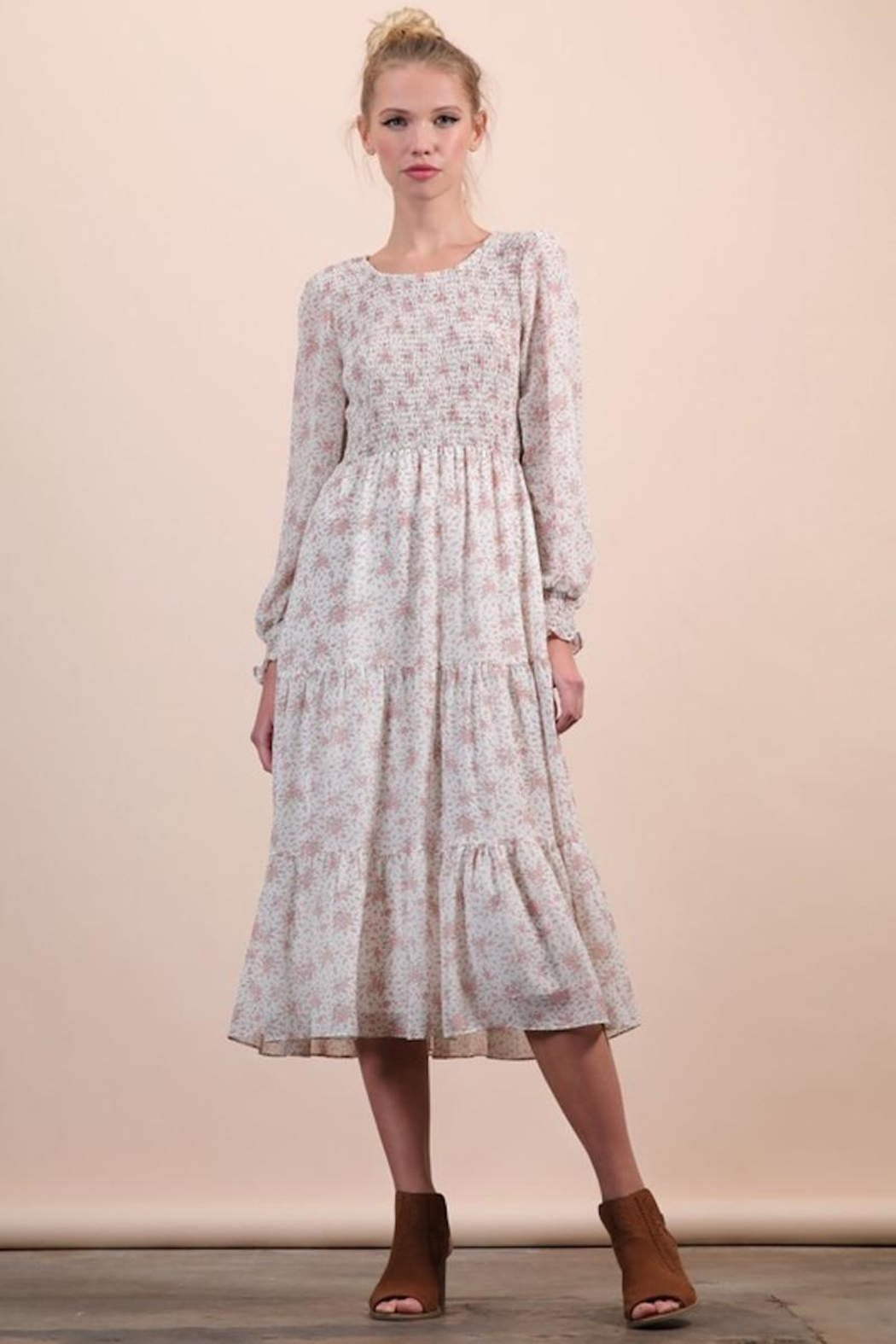 n/a Darling Dainty Floral Midi - Front Full Image