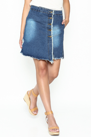 n/a Deconstructed Denim Skirt - Front cropped