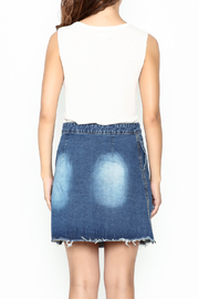 n/a Deconstructed Denim Skirt - Back cropped