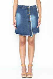 n/a Deconstructed Denim Skirt - Front full body