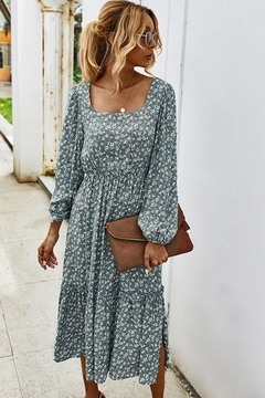 n/a Falling For Floral Midi - Alternate List Image