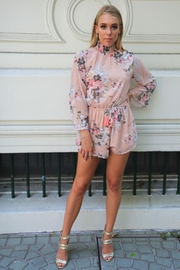 n/a Floral Open-Back Playsuit - Front full body