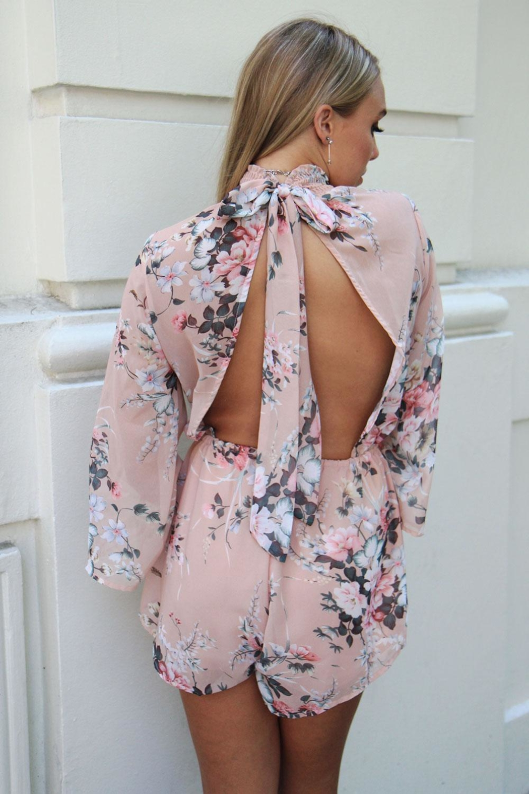 n/a Floral Open-Back Playsuit - Main Image