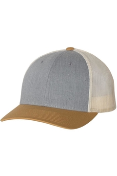 n/a Grey/amber Gold Unisex Trucker Hat - Product List Image