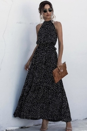 n/a Head Turning Tiny Dots Maxi - Front cropped