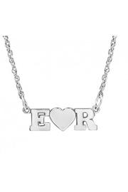 n/a Joined Initials Necklace - Front cropped