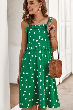 n/a Kelly Green Polka Dot Dress - Alternate List Image