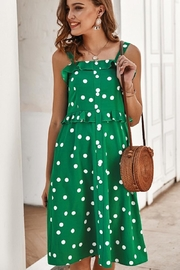 n/a Kelly Green Polka Dot Dress - Product Mini Image