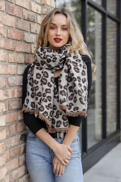 n/a Leopard Animal Print Scarf - Product List Image