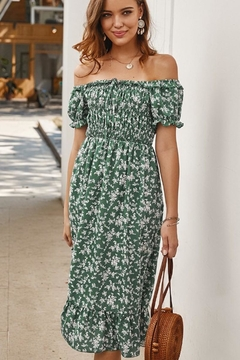 n/a Lost In Green Floral Dress - Alternate List Image