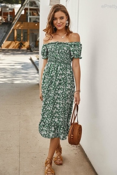 n/a Lost In Green Floral Dress - Product List Image