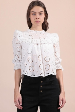 n/a Lovely White Eyelet Top - Product List Image