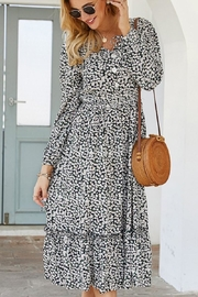 n/a Navy Danity White Floral Maxi - Product Mini Image