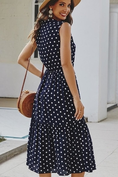 n/a Navy Polka Dot Tie Dress - Alternate List Image
