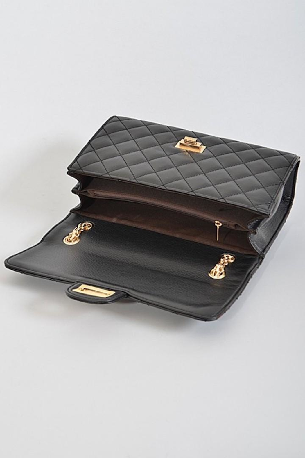 n/a Quilted Flap Bag - Front Full Image