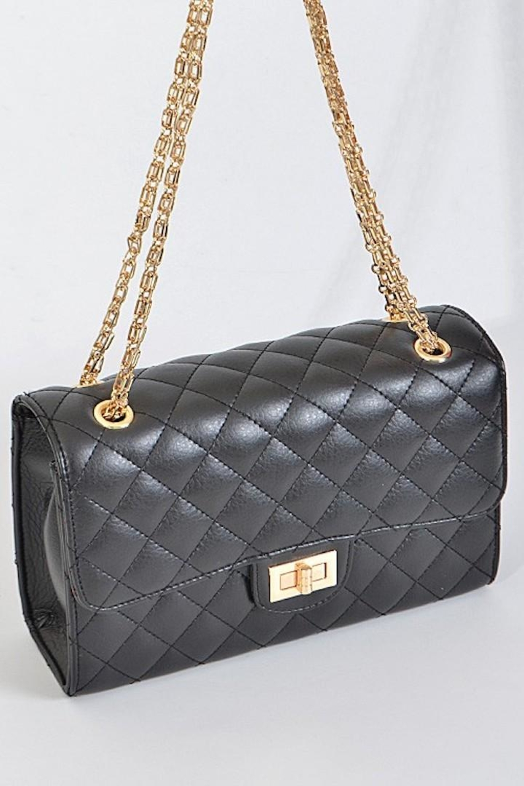 n/a Quilted Flap Bag - Side Cropped Image