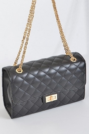 n/a Quilted Flap Bag - Side cropped