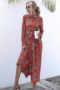 n/a Red Rosie's Long Sleeve Midi - Product List Image