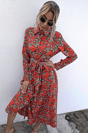 n/a Red Rosie's Long Sleeve Midi - Side cropped