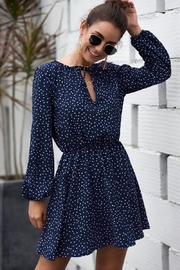 n/a Rileys Navy Dots Dress - Front cropped