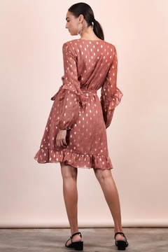 n/a Rose & Gold Polka Dot Wrap Dress - Alternate List Image