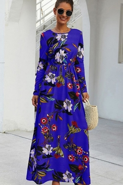 n/a Royal Blue Floral Love Maxi - Alternate List Image